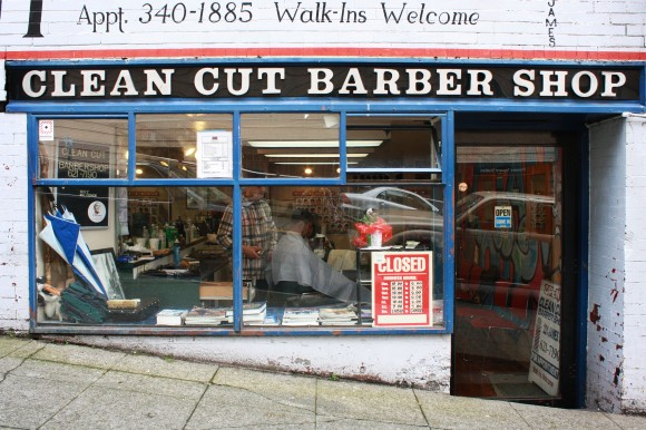 A cool barber shop I came across in Seattle, Washington.