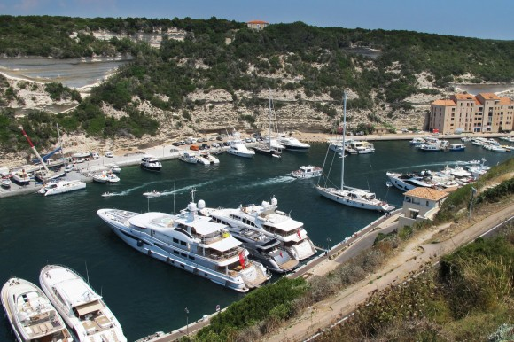 The Port of Bonifacio, Corsica. Showing just how diverse boats can be.