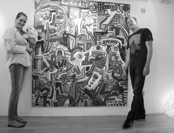 Me and Paul (and Amy) in front of one of his masterpieces.